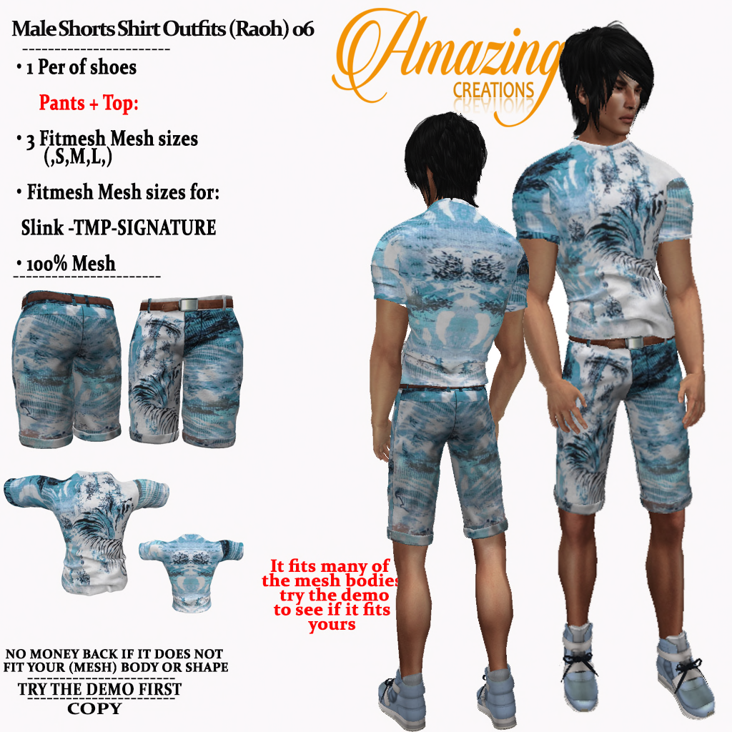 AmAzINg CrEaTiOnS Male Shorts Shirt Outf