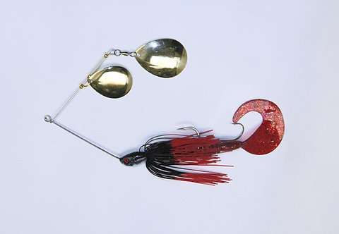 Spinnerbait - Black with Red Tips
