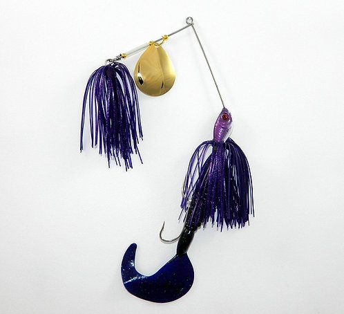 Cod Cruncher Spinnerbait Purple Neon