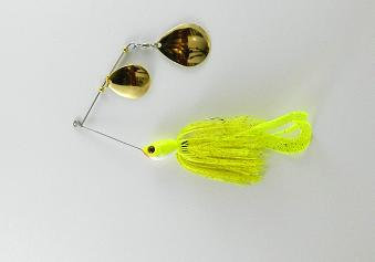 Spinnerbait - Chartreuse Copper