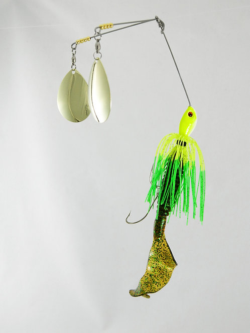 Twin SB - Chartreuse With Green Tips