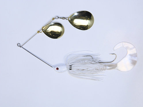 Spinnerbait - White with Silver Fleck