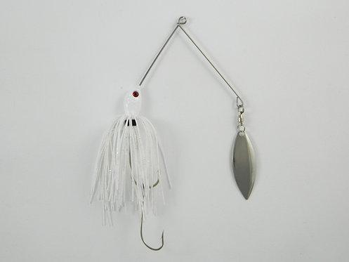 1/2 Oz SB - White & Silver Fleck - Single Willow