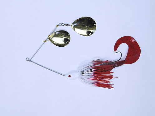 Spinnerbait - White with Red Tips