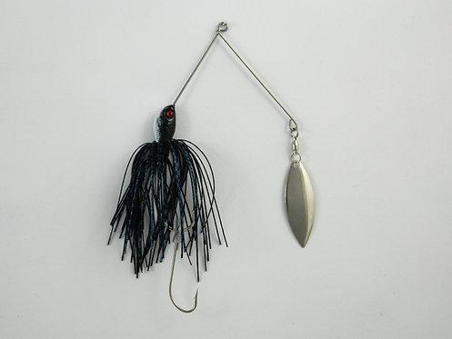 1/2 Oz SB - Black Blue Glitter Scale - Single Willow