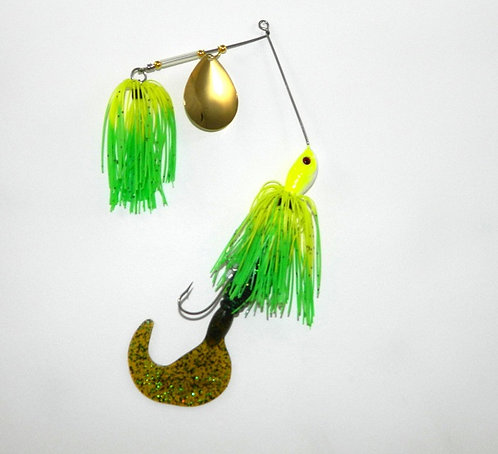 Cod Cruncher Spinnerbait Chartreuse with Green Tips