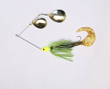 Spinnerbait - Chartreuse Blue Glitter Scale