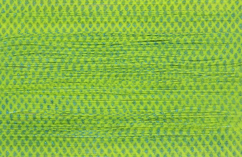 Skirt Tab 10 Pack Chartreuse & Blue Glitter Scale