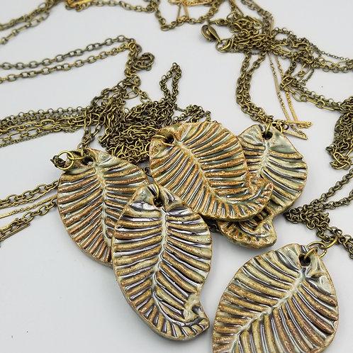 Earth Elemental Leaf Necklace