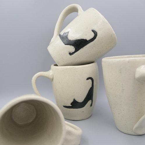 Hand Built Cat Mug