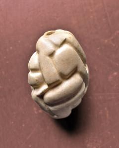 Hand Carved Ceramic Bead