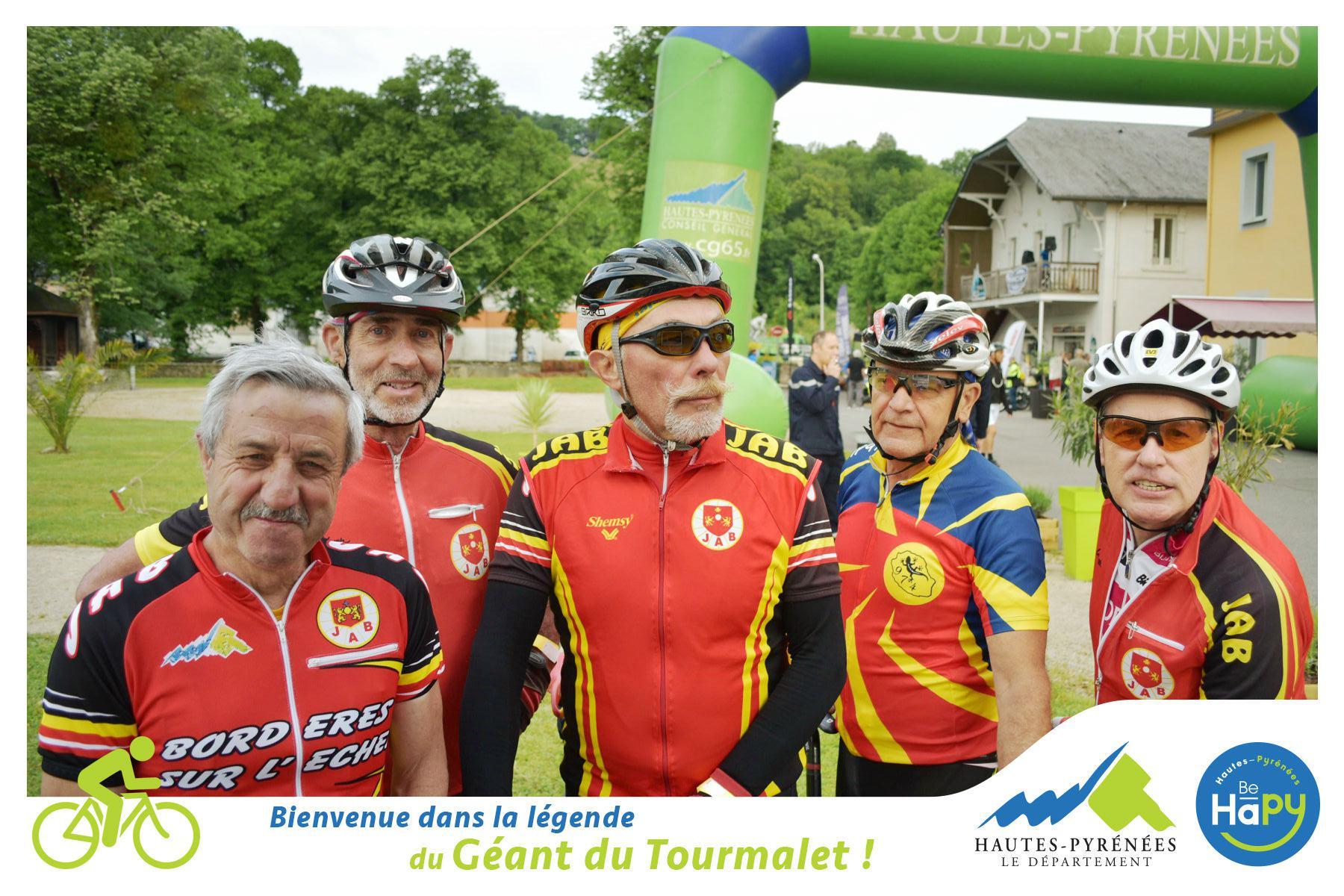 Cliché des cyclistes de compétition