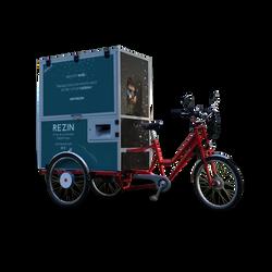 photocyclette Rezin street marketing