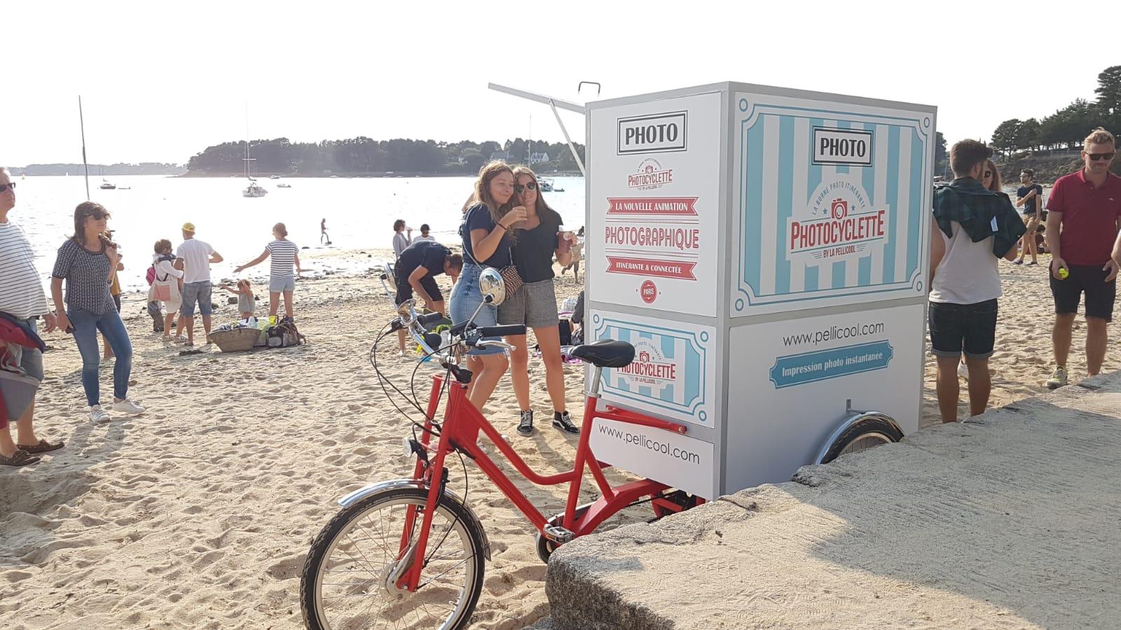 La Photocyclette sur la Grande Plage de l'Ile aux Moines