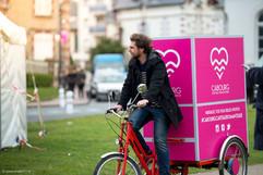 Dimitri sur la Photocyclette à Cabourg p