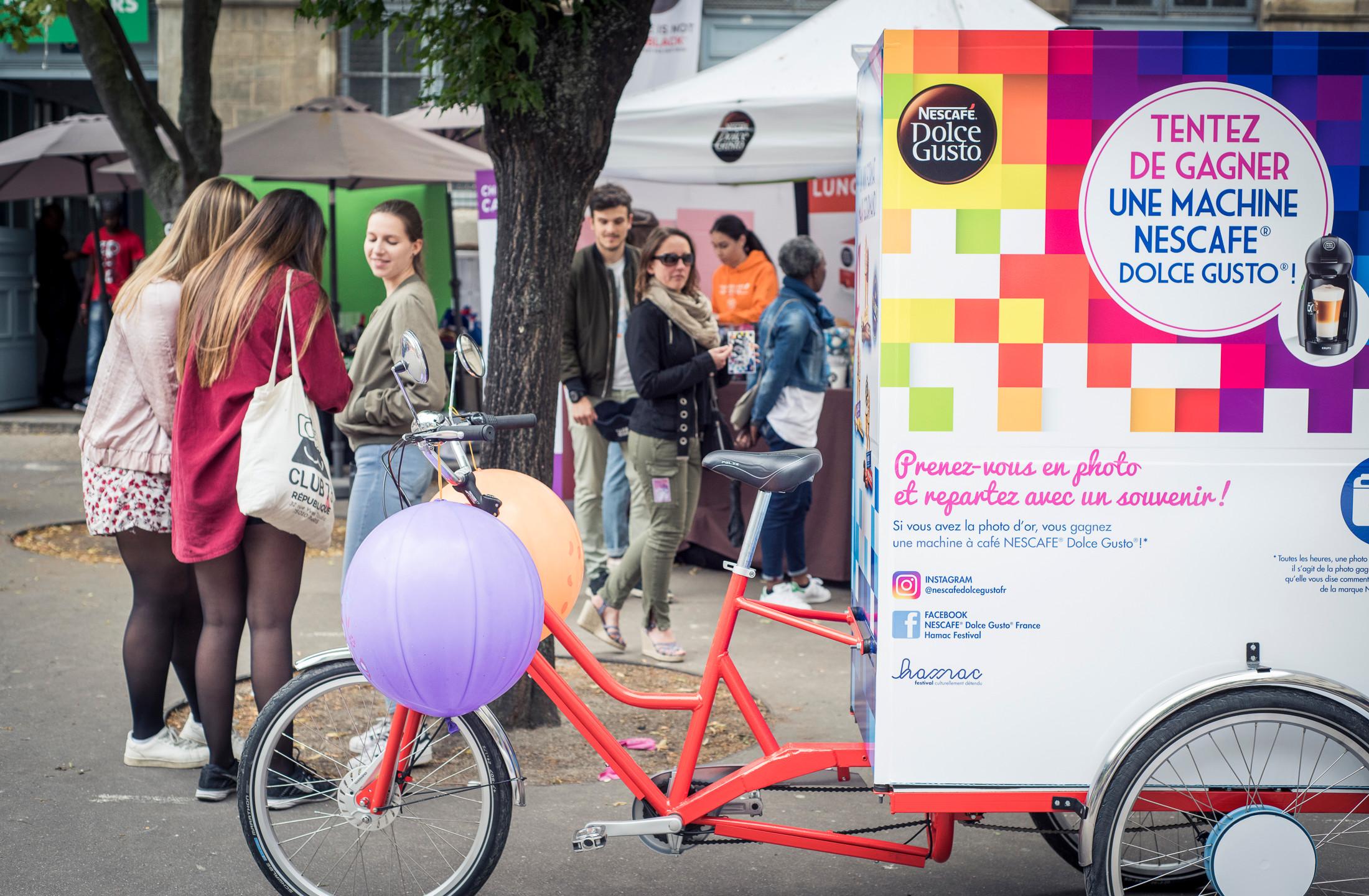 La Photocyclette personnalisée pour Nestle
