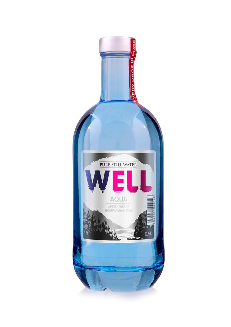 Тонированное стекло объемом 0.5 литра (6 бутылок в упаковке)
