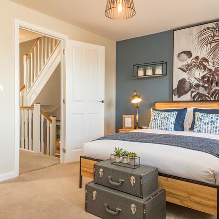 Blue Tones Bedroom