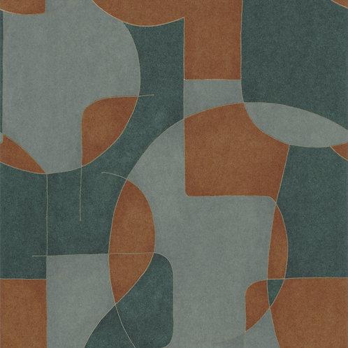 CASADECO - OP'ART - 86097503 VERT/CUIVRE