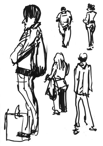 FA7036 - People Sketches at Waterloo Station