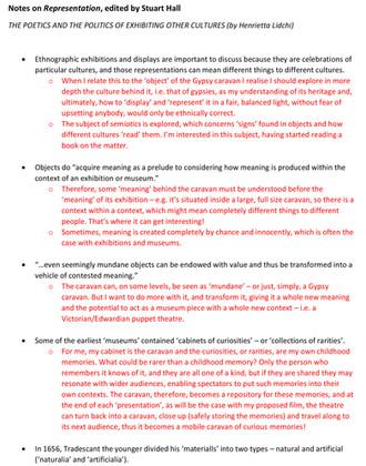 FA7034 - Notes on 'Representation' (Stuart Hall) etc.
