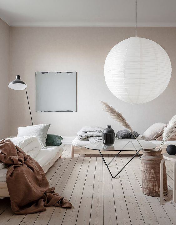 Soft Natural Palette in Swedish Apartment
