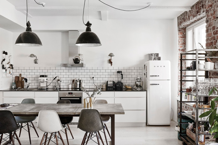 Industrial Touch in Finnish Apartment