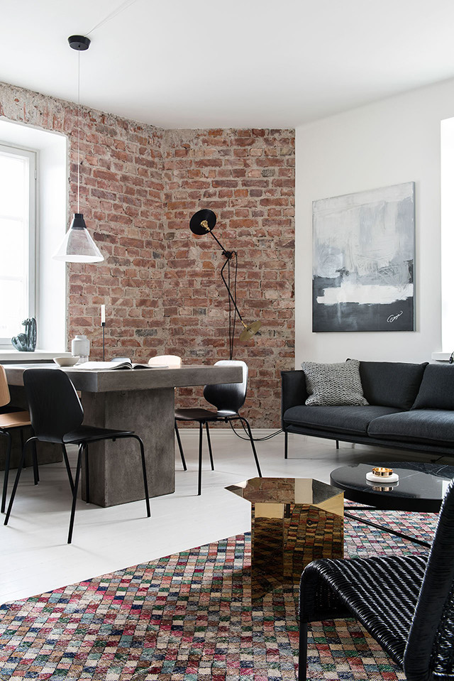 Authentic & Contemporary in Helsinki Apartment