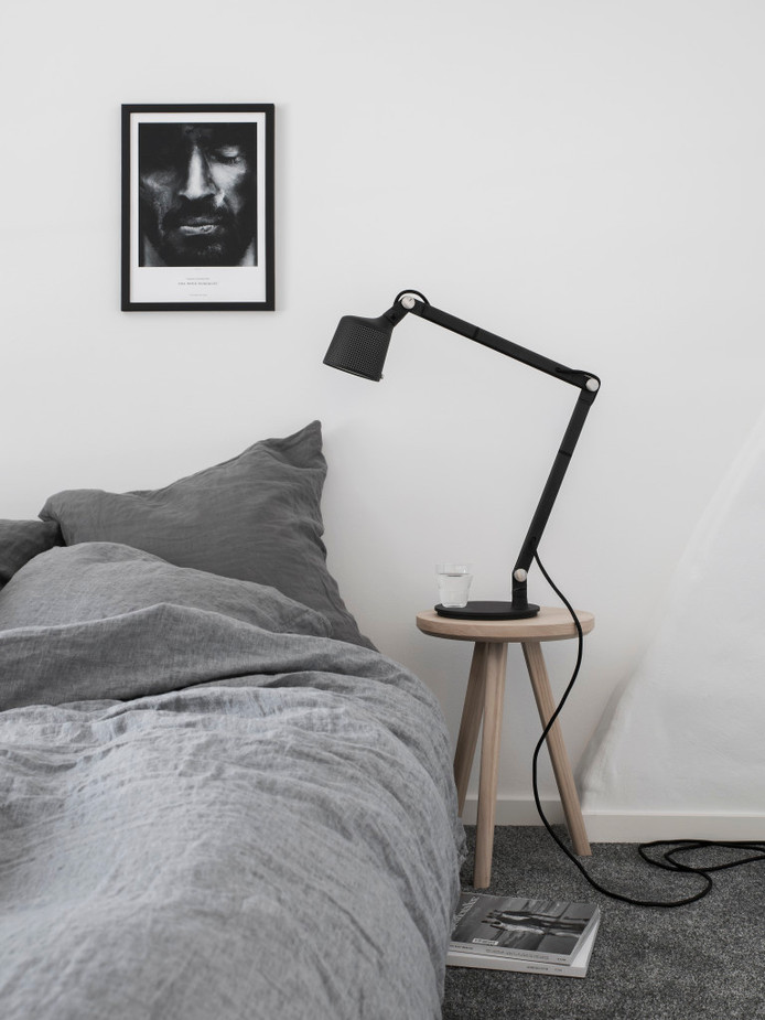Dreamy Bedroom In Gray