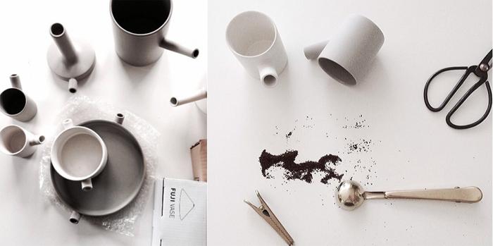 family ceramic set  by Catherine Lovatt