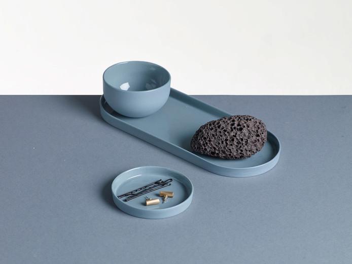 Mat Blue Porcelain