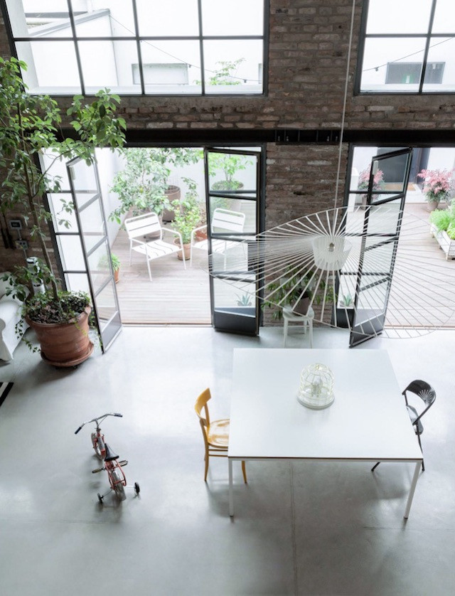 Family House in a Former Car Workshop