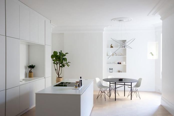 White Minimal Interior in Helsinki