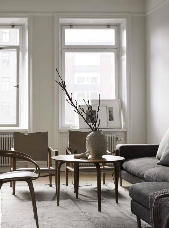 Swedish Apartment With Natural Tones_By Lotta Agaton
