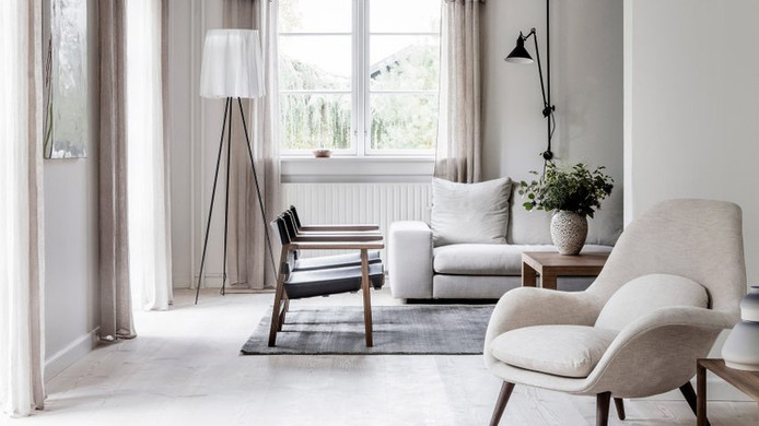 Pale Tones in Danish Family Home