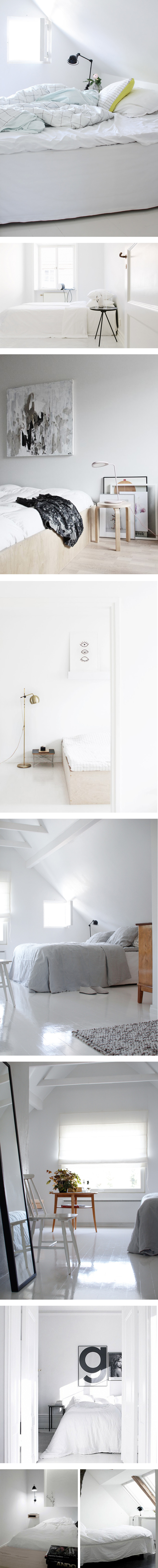 White simplicity in the bedroom space