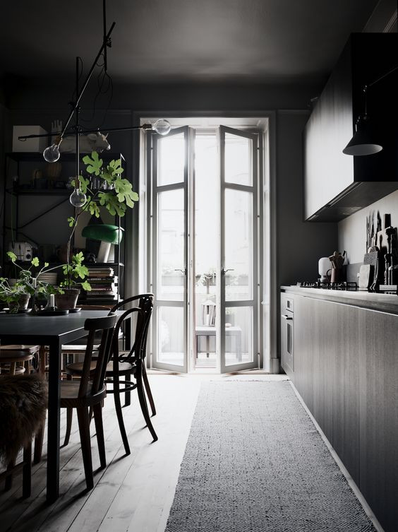 Gloomy Styling in Stockholm Apartment