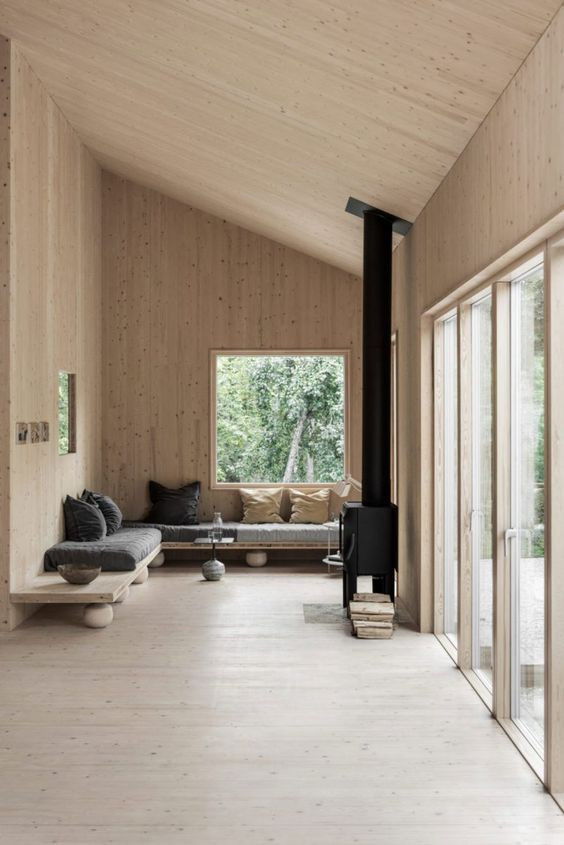 Wooden Minimal Cabin in Sweden