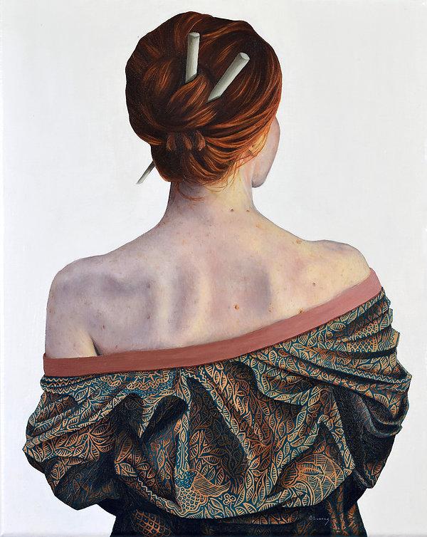 Autumn - Pachamama. Jessica Oliveras oil painting