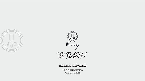 Jessica Oliveras B(RUSH) invitation artworks