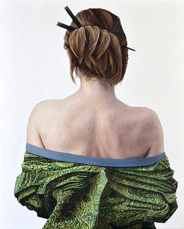 Summer - Pachamama. Jessica Oliveras oil painting
