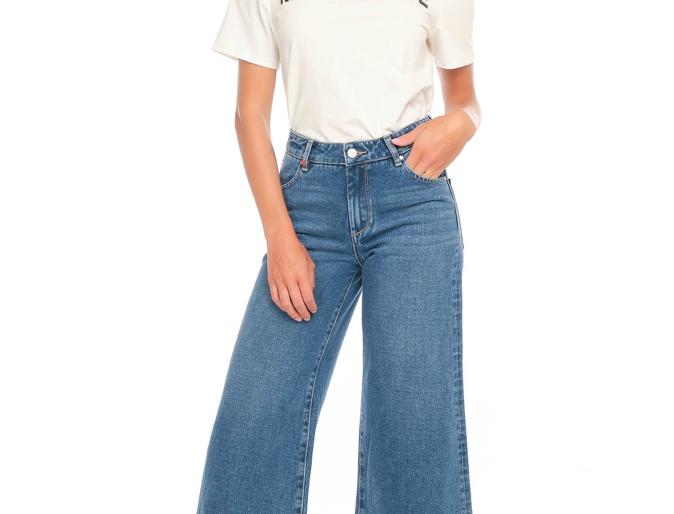 Jeans wide cropped FANNY Stone