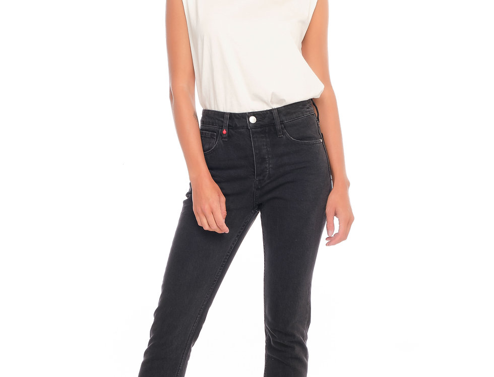 Jeans mom slim PAMELA Black