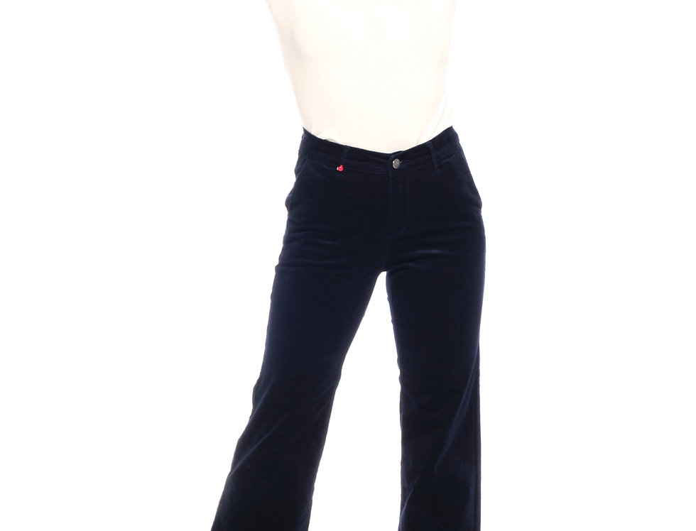 Wide cropped FLORENCE V Navy