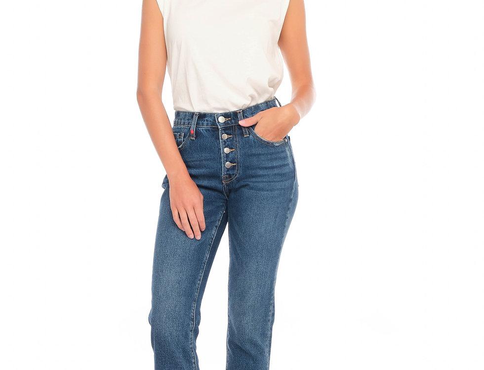 Jeans mom PATRICIA MFB Stone
