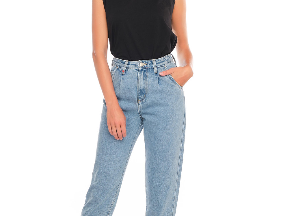 Jeans ballon cropped LUCY