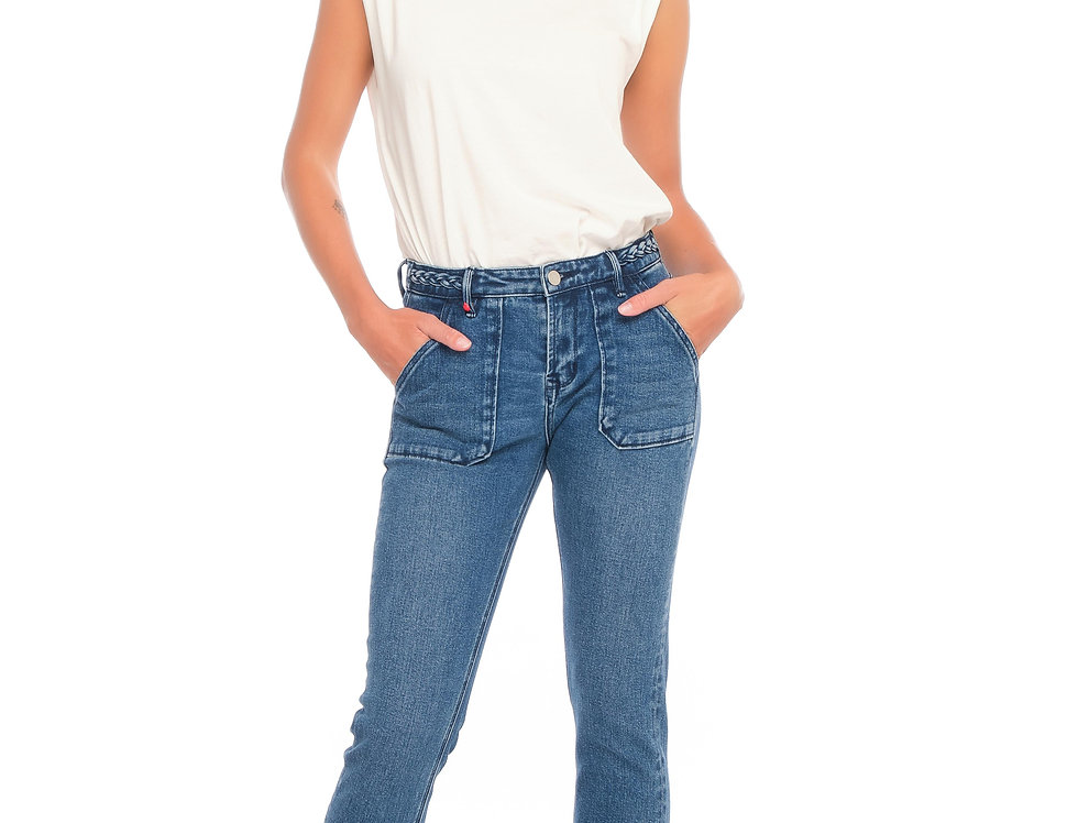 Jeans carrot POLINE TRESSE Stone