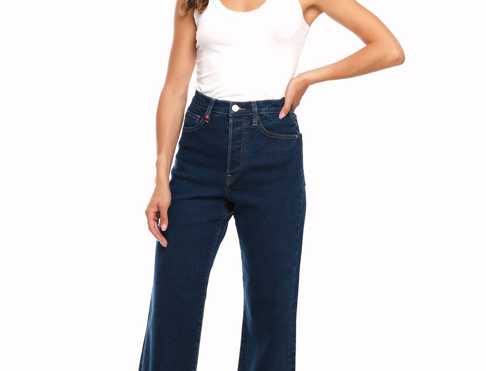 Jeans straight cropped POLA Brut