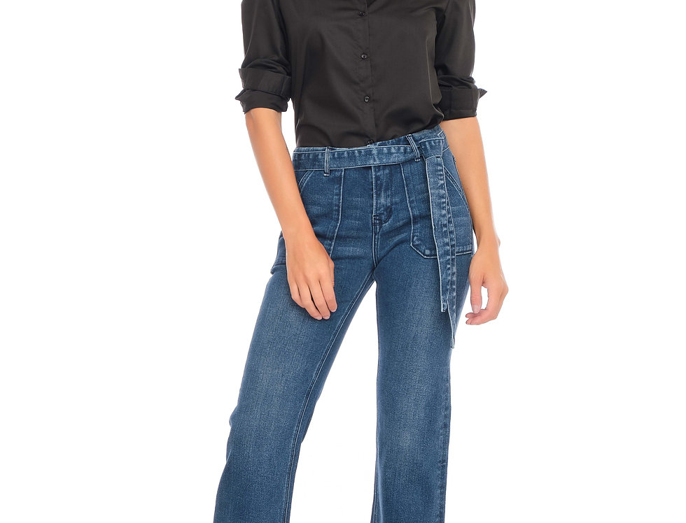 Jeans wide cropped FENDY