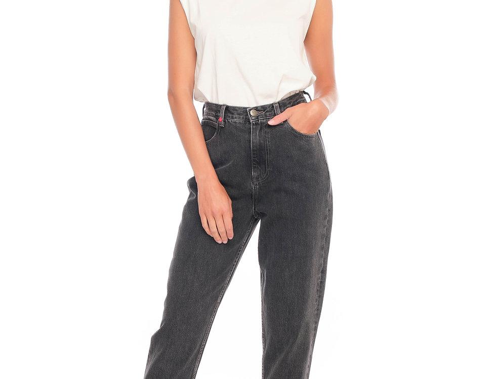 Jeans ballon cropped LILY Black
